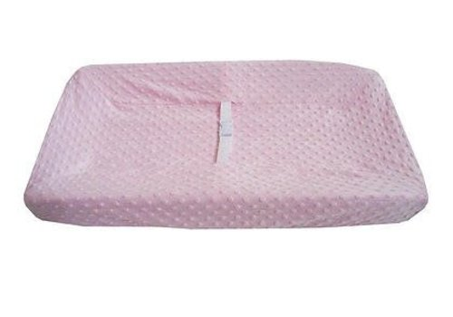American Baby American Baby HS Minky Dot Pink Changing Pad Table Cover
