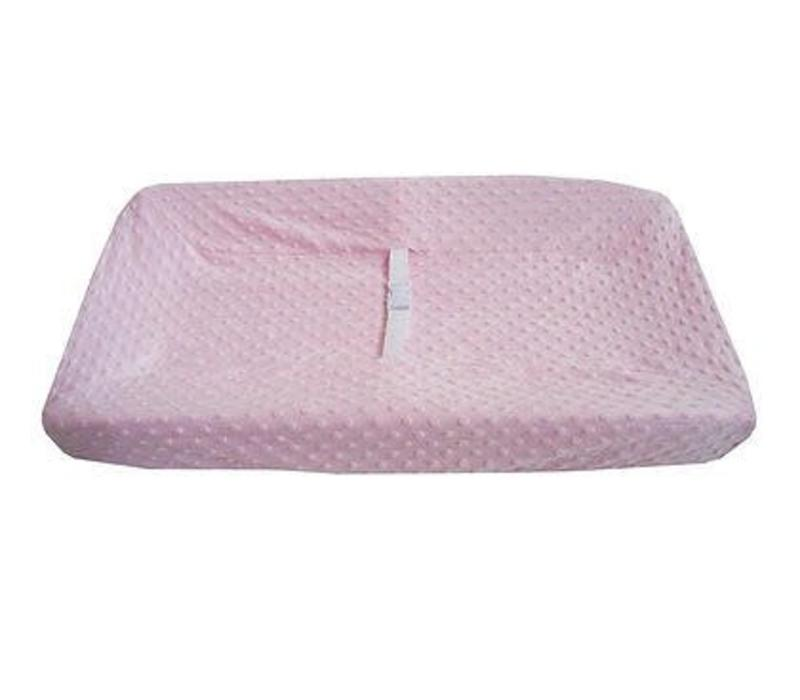 American Baby HS Minky Dot Pink Changing Pad Table Cover