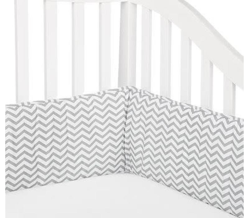 American Baby Crib Bumper In Chevron