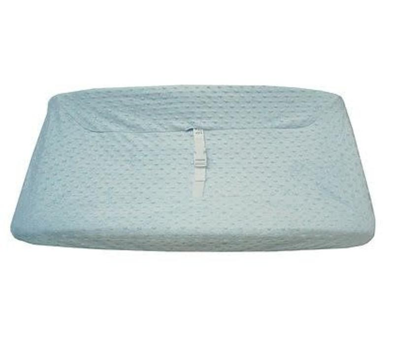 American Baby HS Minky Dot Blue Changing Pad Cover