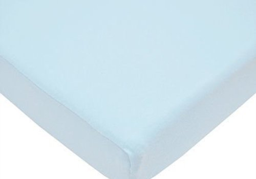American Baby American Baby Knit Porta Crib Sheet In Blue