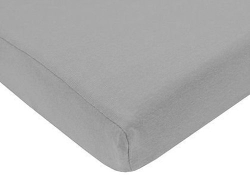 American Baby American Baby Knit Porta Crib Sheet In Gray