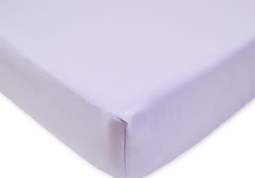 American Baby American Baby Knit Crib Sheet In Lavendar