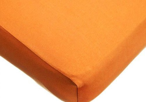American Baby American Baby Knit Crib Sheet In Orange