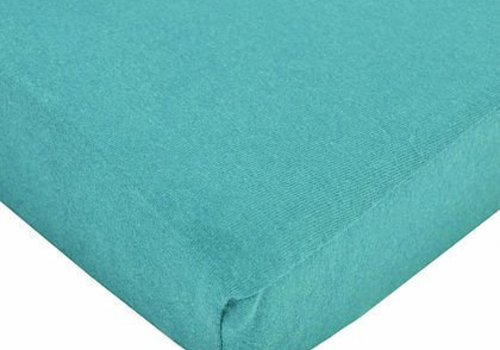 American Baby American Baby Knit Crib Sheet In Turquoise