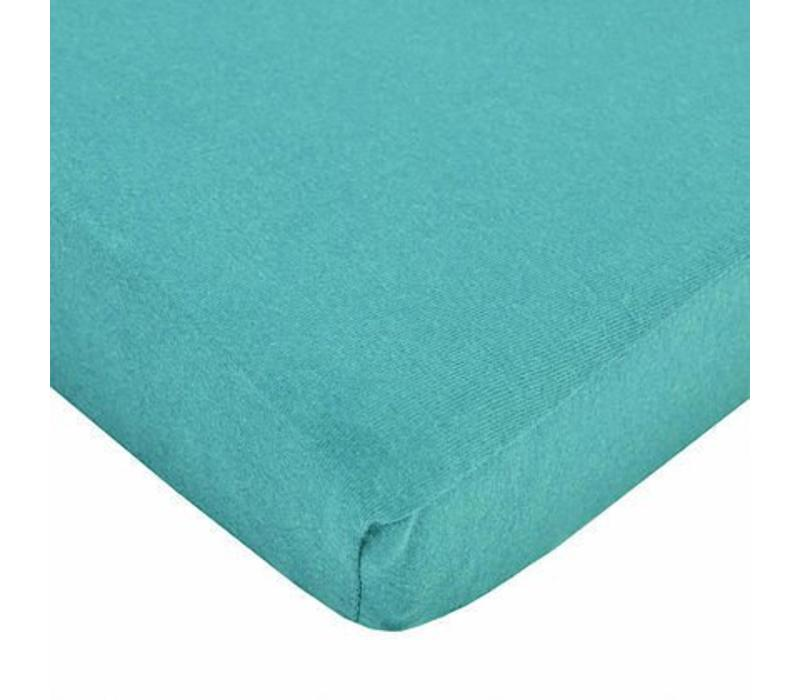 American Baby Knit Crib Sheet In Turquoise
