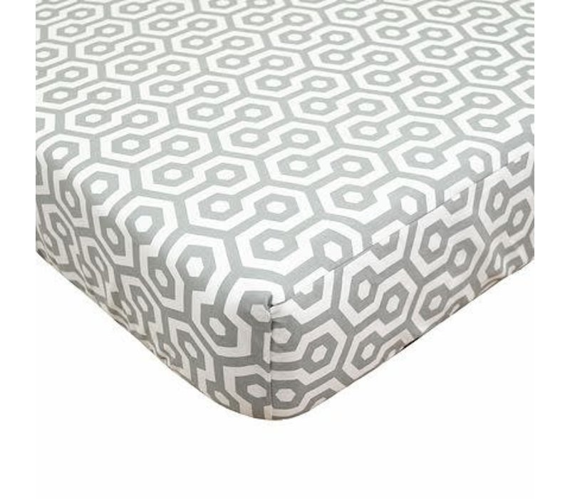 American Baby Percale Crib Sheet Gray Honey Comb