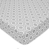 American Baby American Baby Percale Crib Sheet Gray Ogee