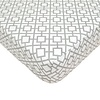 American Baby American Baby Percale Crib Sheet Gray Lattice