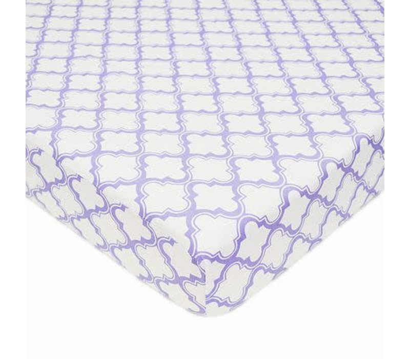American Baby Percale Crib Sheet Lav- Moroccan