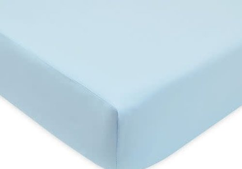 American Baby American Baby Knit Bassinet Sheet In Blue
