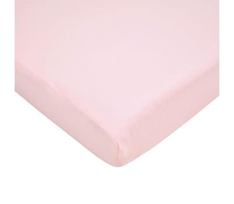 American Baby Knit Porta Crib Sheet In Pink