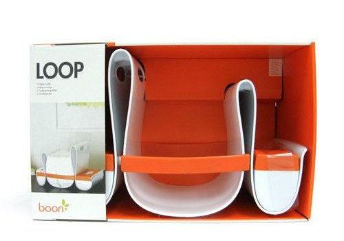 Boon Boon Loop Diaper Caddy In Orange