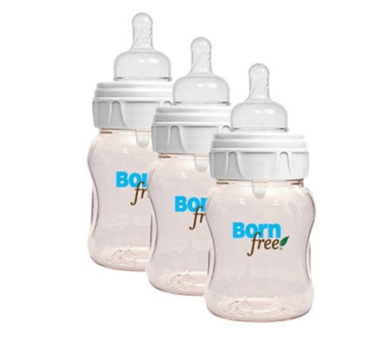 CLOSEOUT!!! Born Free Classic Plastic Bottle - 3 Pack (5 Ounce)