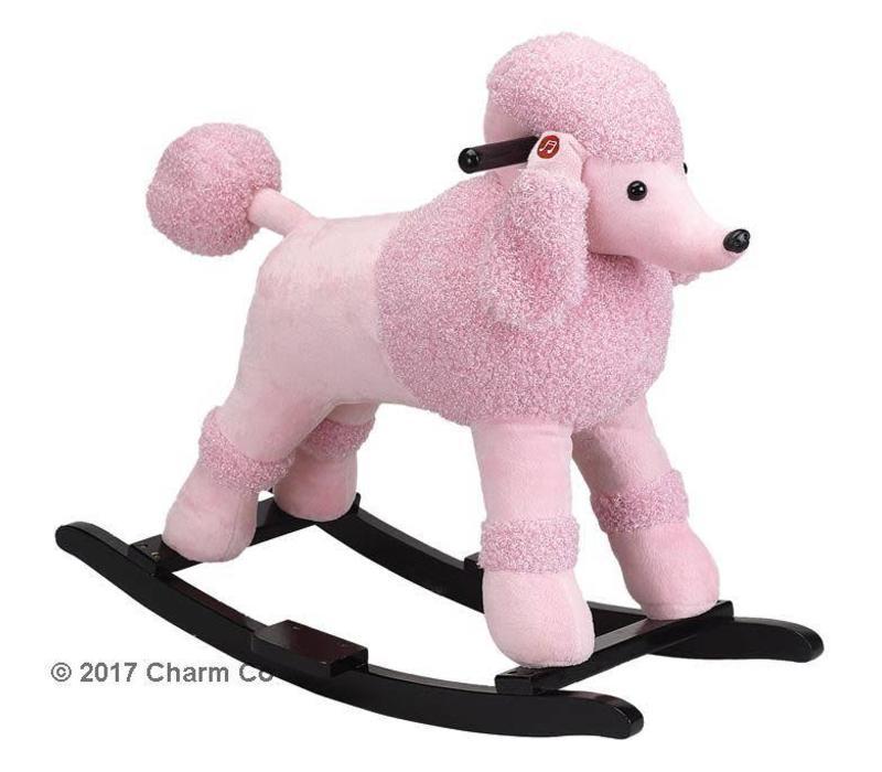 Charm Baby Pink Poodle Rocker