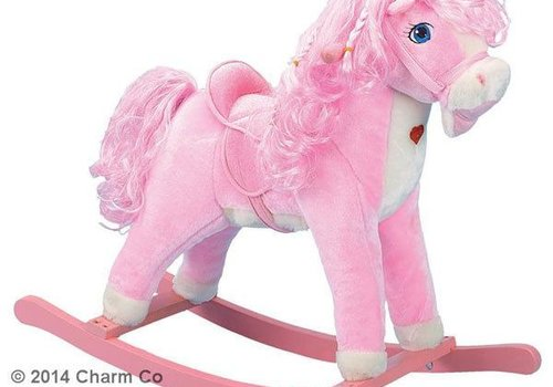 Charm Charm Pink Horse Rocker (Pink Heart Lights Up)