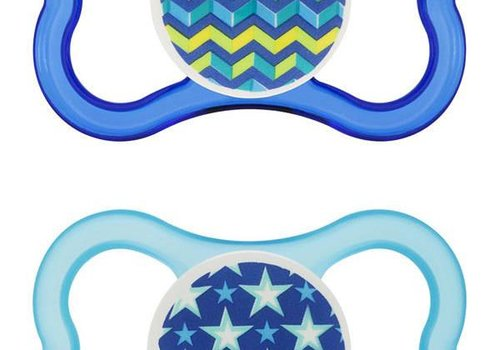 Mam Mam Air Silicone Pacifier 2-Pack (Assorted) - 6 + Months