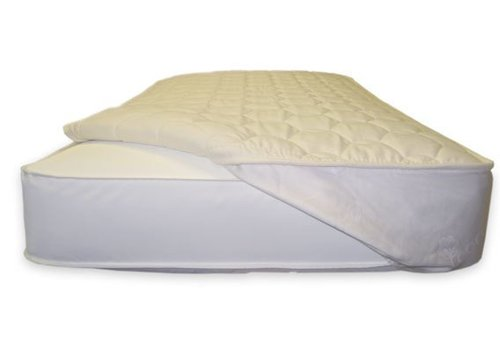 Naturepedic Naturepedic Organic Cotton Twin Quilted Topper with Straps