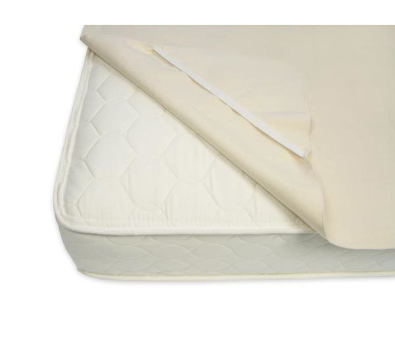 Naturepedic Organic Cotton Flannel Pad - Twin Size with Straps