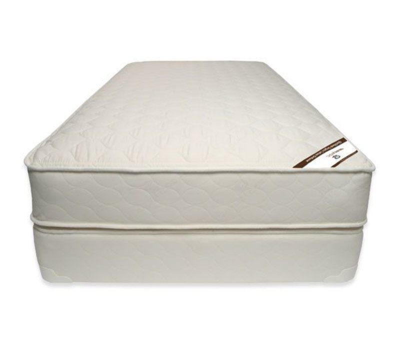 Naturepedic Twin Size Mattress Quilted Organic Cotton Deluxe With Box Spring