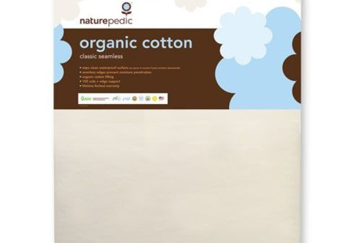 Naturepedic Naturepedic Crib Mattress Organic Cotton Classic 150 Coils Seamless