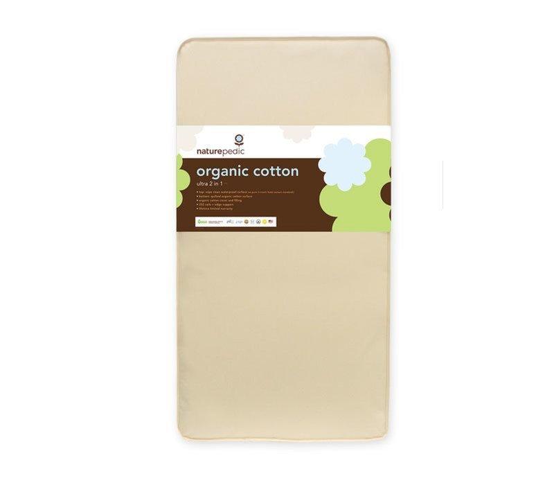 Naturepedic Crib Mattress 2 in 1 Organic Cotton Ultra 252 Coils