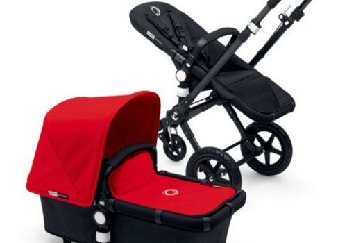 Bugaboo 2017 Bugaboo Cameleon3 Base Black - Black Extendable Tailored Fabric In Red