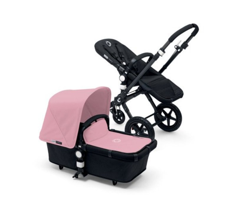 2017 Bugaboo Cameleon3 Base Black - Black Extendable Fabric In Soft Pink