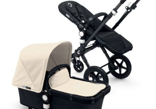 Bugaboo 2017 Bugaboo Cameleon3 Base Black - Black Extendable Fabric In Off White