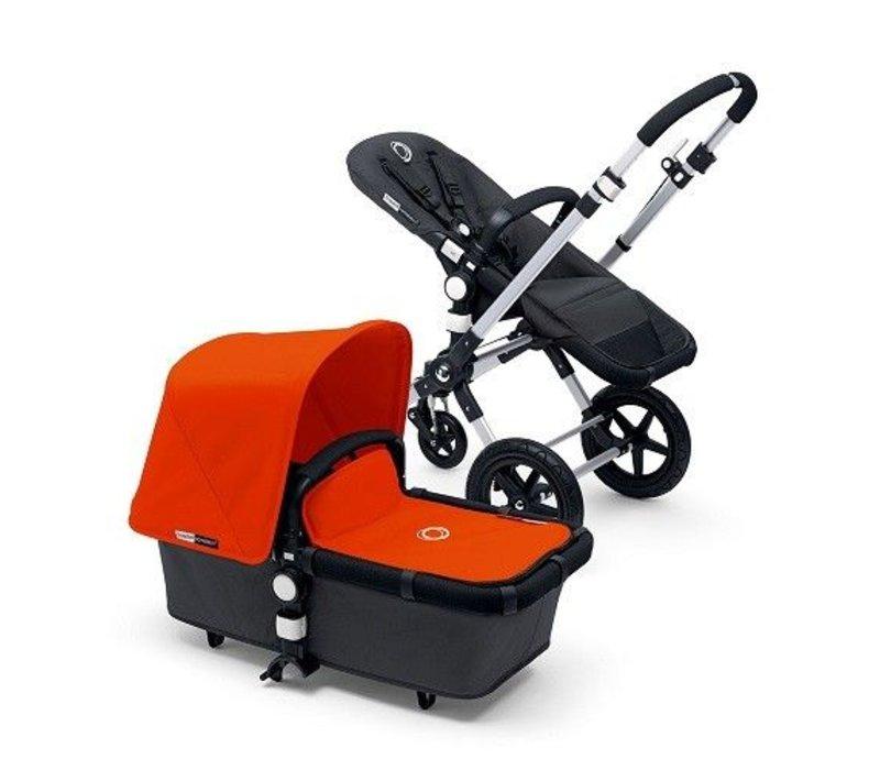 2017 Bugaboo Cameleon3 Base Dark Grey Extendable Tailored Fabric Orange