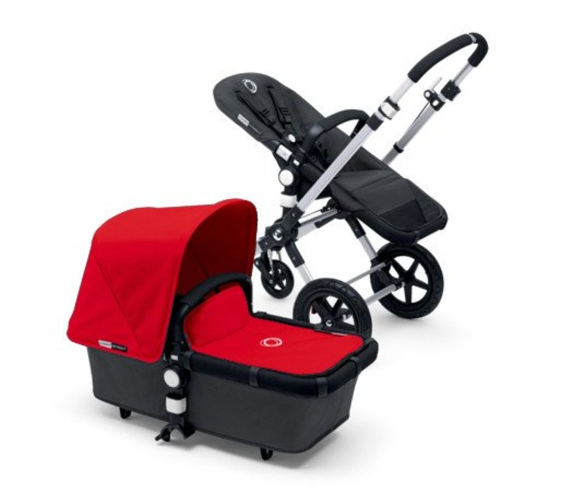 2017 Bugaboo Cameleon3 Base Dark Grey Extendable Tailored Fabric In Red