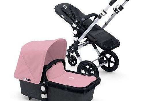 Bugaboo 2017 Bugaboo Cameleon3 Base Dark Grey Extendable Fabric In Soft Pink