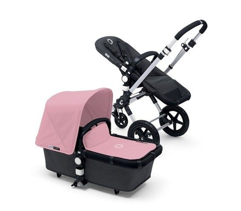 2017 Bugaboo Cameleon3 Base Dark Grey Extendable Fabric In Soft Pink