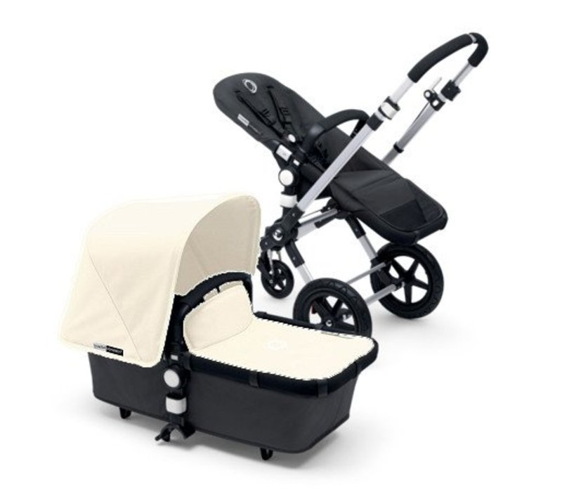 2017 Bugaboo Cameleon3 Base Dark Grey Extendable Fabric In Off White