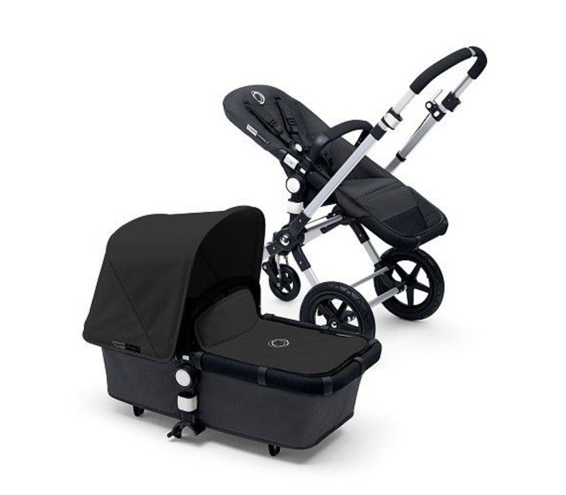 2017 Bugaboo Cameleon3 Base Dark Grey Extendable Tailored Fabric In Black