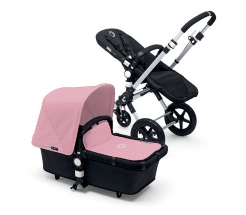2017 Bugaboo Cameleon3 Base Aluminum- Black Extendable Fabric In Soft Pink