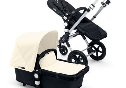 Bugaboo 2017 Bugaboo Cameleon3 Base Aluminum- Black Extendable Fabric In Off White