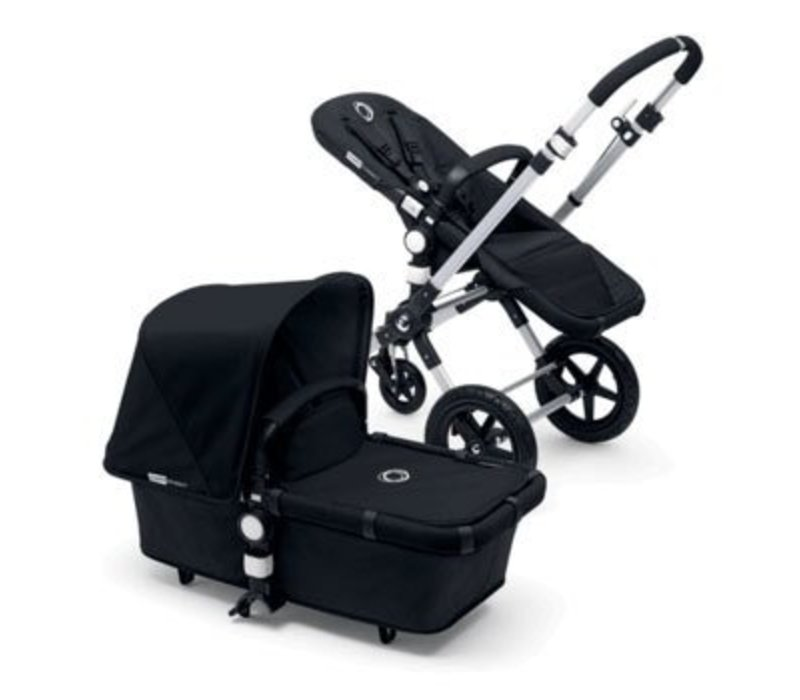 2017 Bugaboo Cameleon3 Base Aluminum- Black Extendable Tailored Fabric In Black