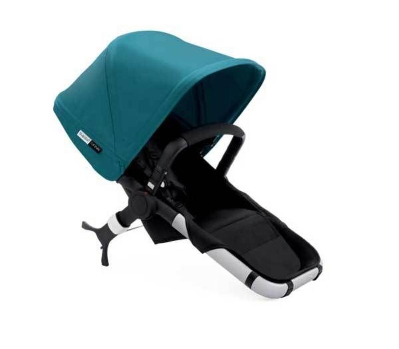 Bugaboo Runner Seat Includes Extendable Canopy In Black-Petrol Blue