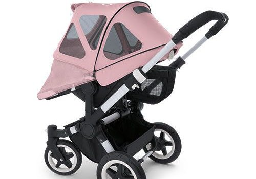 Bugaboo Bugaboo Donkey Breezy Sun Canopy In Soft Pink