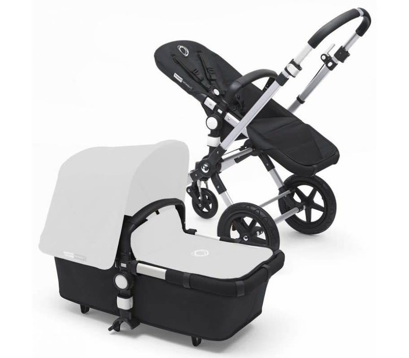2017 Bugaboo Cameleon3 Stroller Base In Black With Aluminum Frame