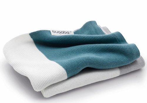 Bugaboo Bugaboo Light Cotton Blanket In Petrol Blue Multi