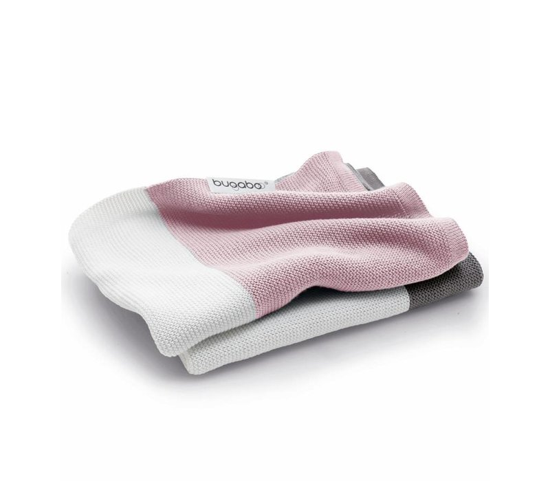 Bugaboo Light Cotton Blanket In Soft Pink Multi
