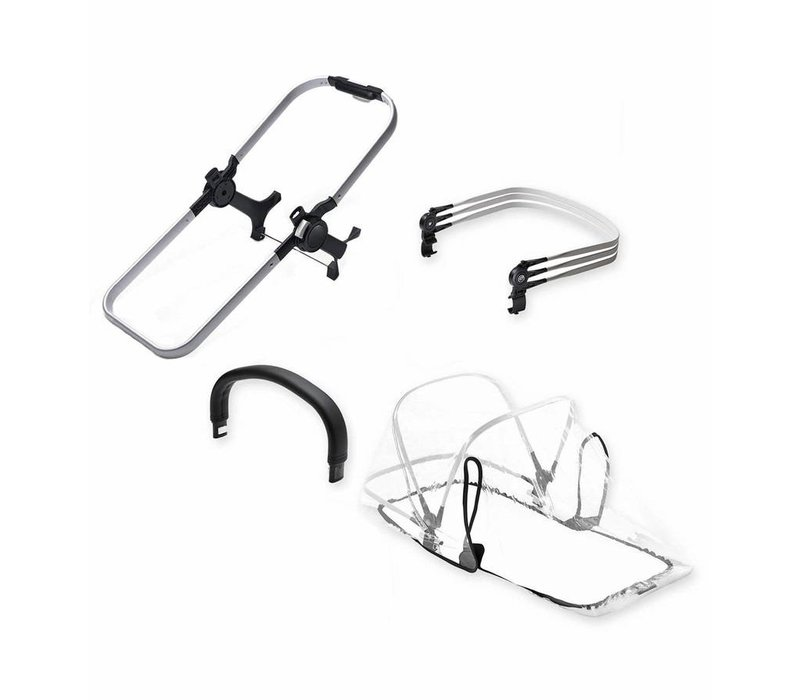 Bugaboo Donkey2 Duo Extension Set Base In Aluminum