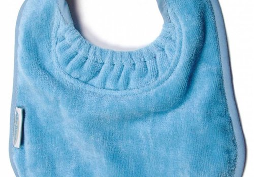 Silly Billyz SillY BillyZ Velour Plain Bib 3 Months - 3 Yrs In Sky Blue