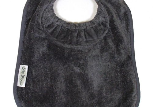 Silly Billyz SillY BillyZ Velour Plain Bib 3 Months - 3 Yrs In Dark Gray