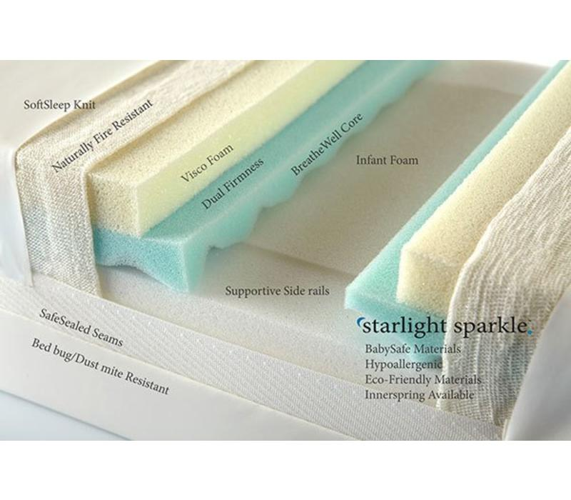 Moonlight Slumber Sparkle All Foam Crib Mattress With Visco And BreathWell Core