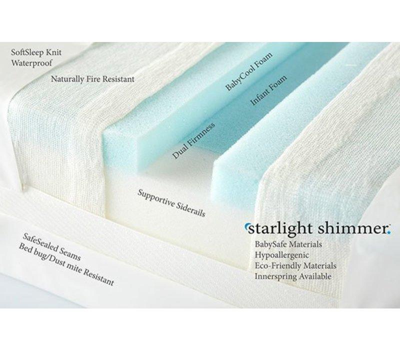 Moonlight Slumber Shimmer All Foam Crib Mattress With Baby Cool Foam