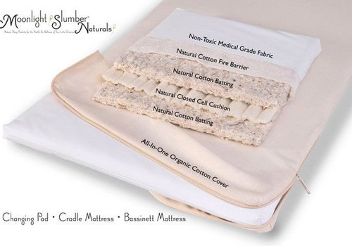 Moonlight Slumber Moonlight Slumber Natural Cotton Bassinet Mattress with All in One Organic Cover