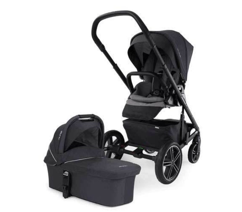 Nuna Mixx Stroller In Jett With Bassinet